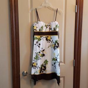 Size 11 NWT women's Speechless brown & white dress